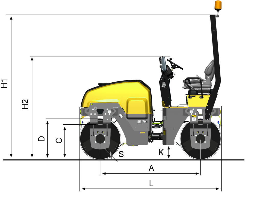 dynapac cc1200 • dynapac atlas copco blueprint side view dynapac cc1200